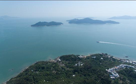 「明日大嶼願景」擬填海的東大嶼海面(大文全媒體資料圖)