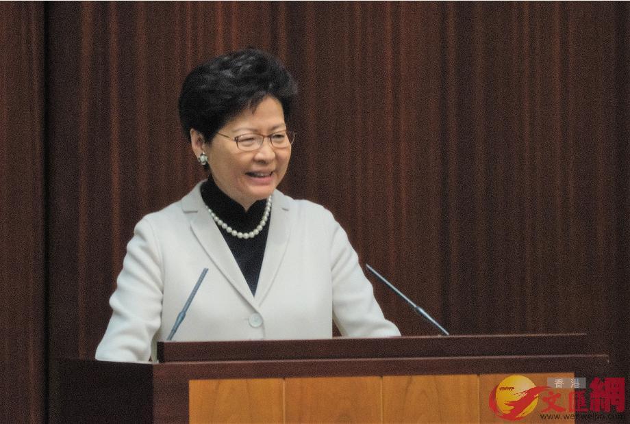 林鄭月娥表示,跨境運送非急重病港人返港求醫為便利港人。(全媒體記者麥鈞傑攝)
