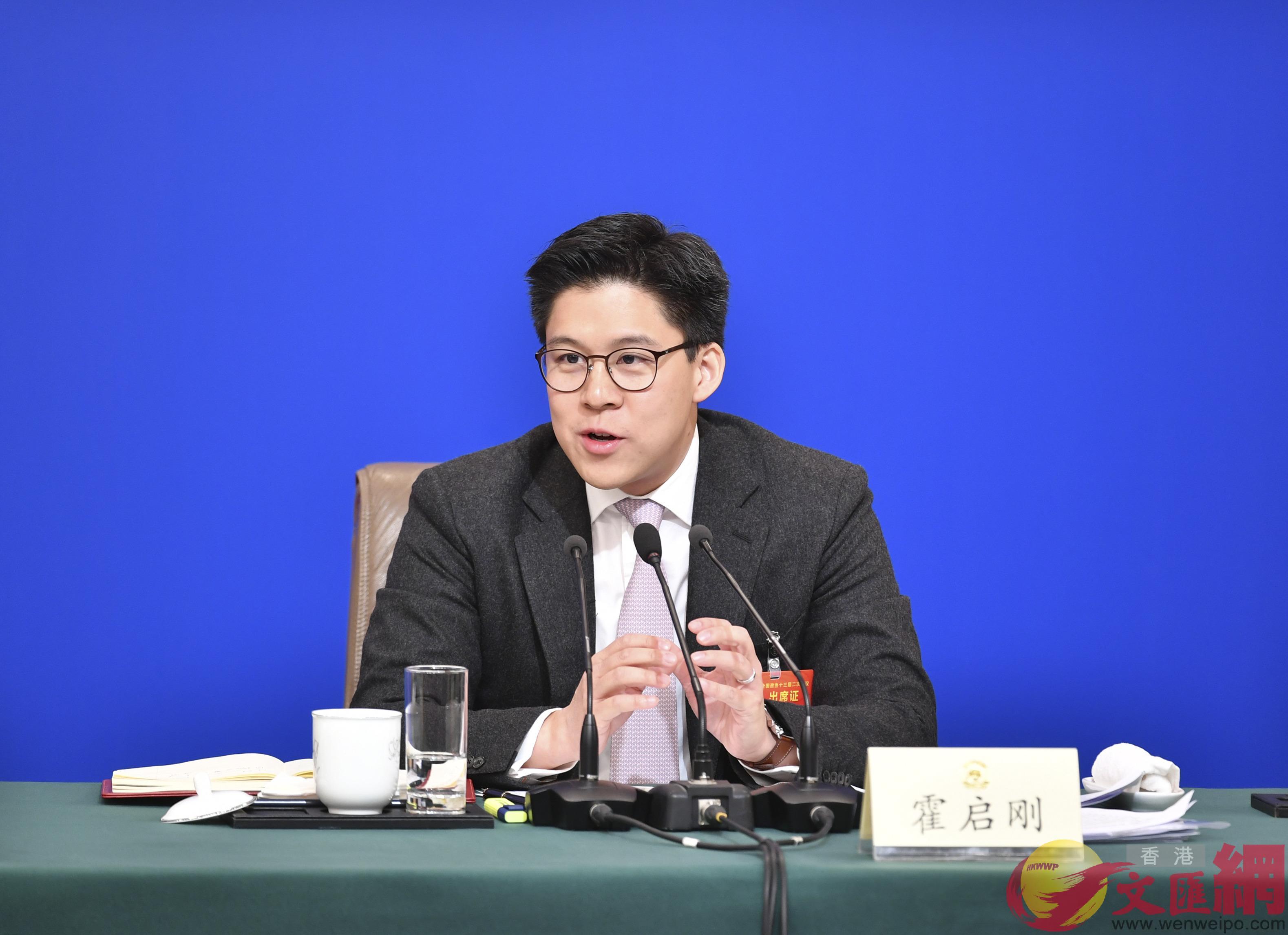 霍啟剛:港青對大灣區發展認同度超八成