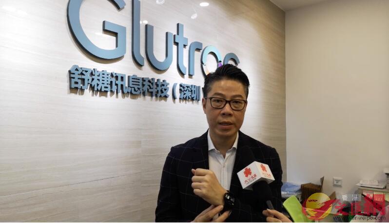 舒糖訊息科技CEO何耀威接受採訪(實習記者 胡永愛 攝)