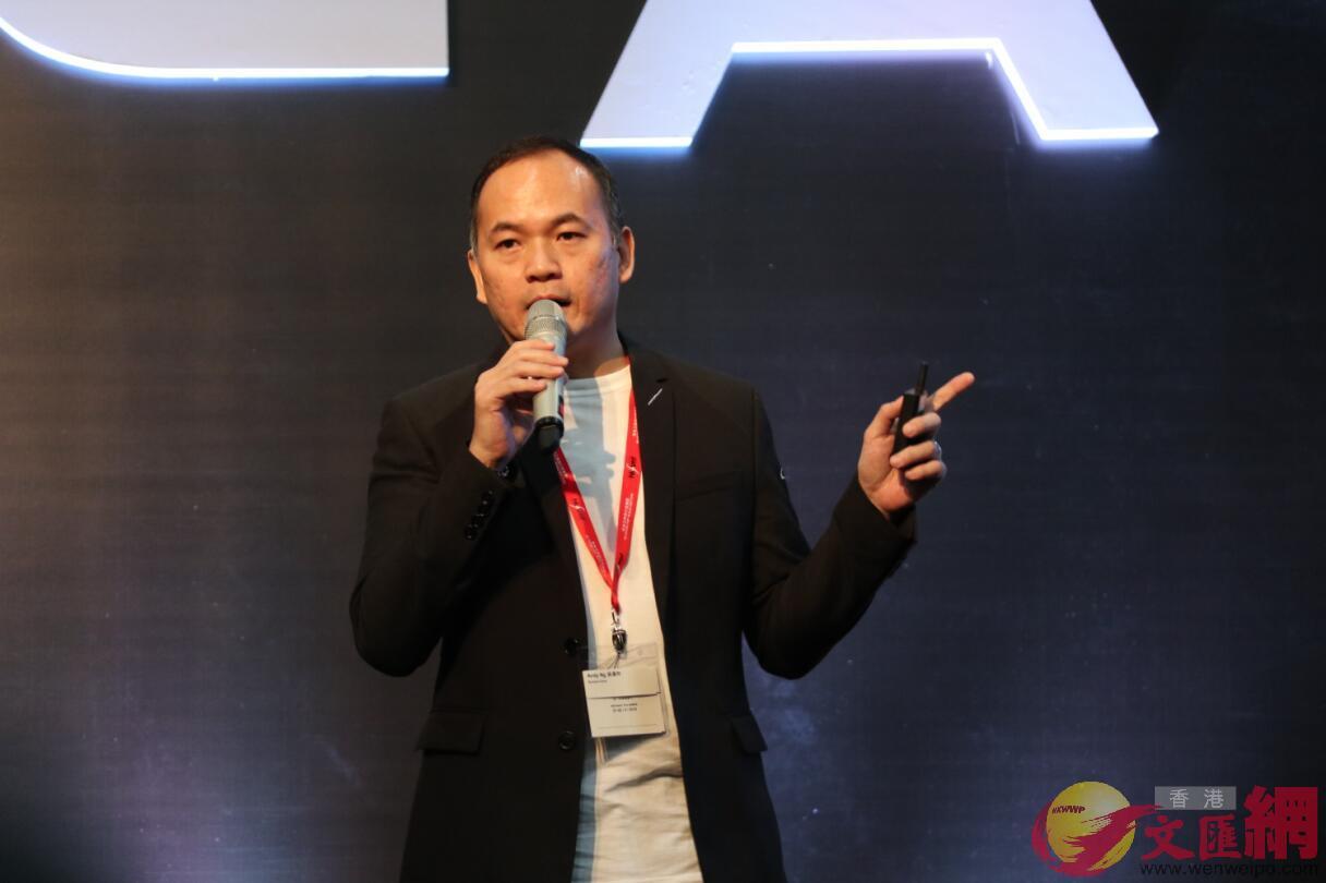 騰訊音樂娛樂集團副總裁吳偉林(全媒體記者張琦攝)
