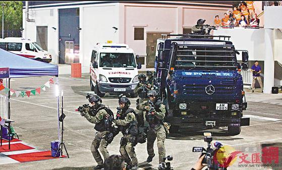 警方過往多次舉行反恐演習(文匯報資料圖)