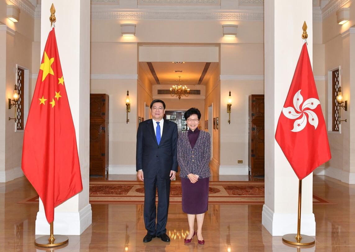 林鄭月娥會見杜家毫 籲深化湖南與大灣區合作