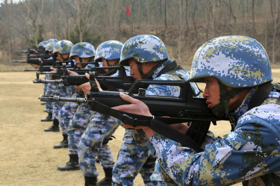 圖為海軍陸戰隊訓練(中新社資料圖片)
