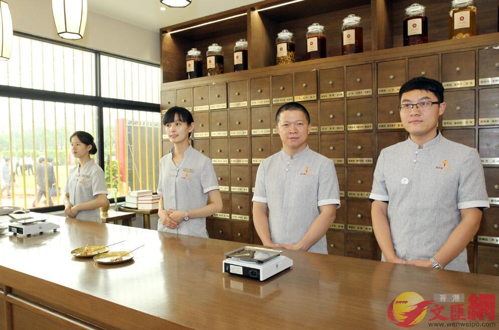 新型中醫館率先佈局大灣區,首家落戶珠海,接下來在香港、澳門開館(方俊明 攝)