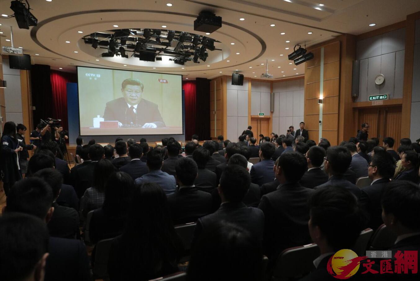 「紀念五四運動100周年暨學習習近平總書記在紀念五四運動100周年大會上的重要講話座談會」5月4日於香港舉行