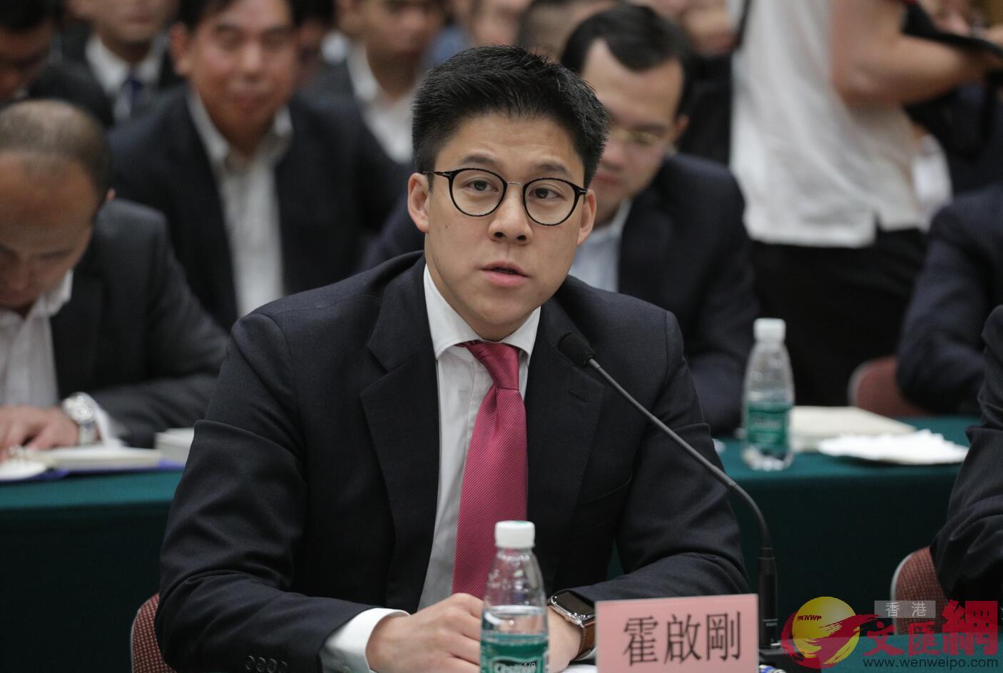 香港各界青少年活動委員會執行主席、全國青聯常委霍啟剛發言