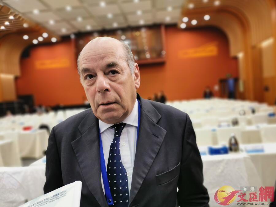 「歐洲之友」董事會理事保羅·瑞維爾(記者張帥攝)