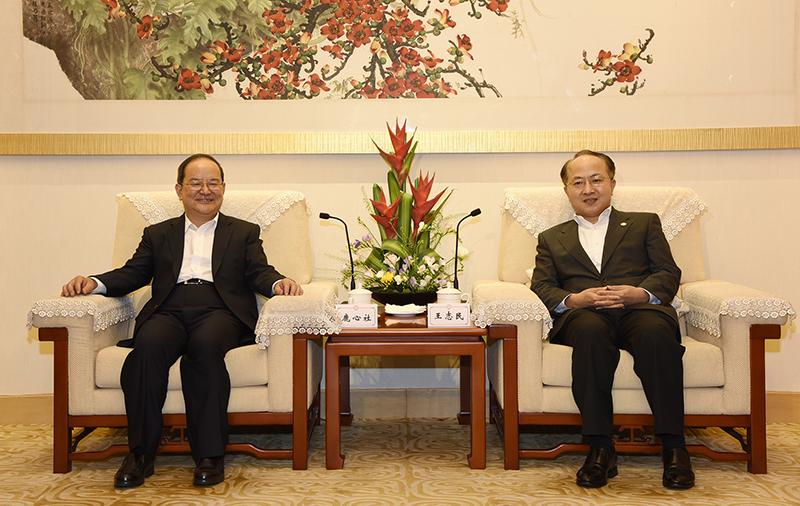 王志民會見鹿心社。