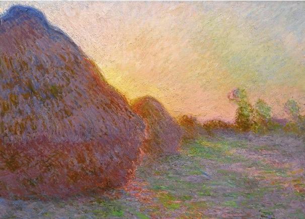 莫奈《乾草堆》油畫,以1.107億美元天價成交(網絡圖片)