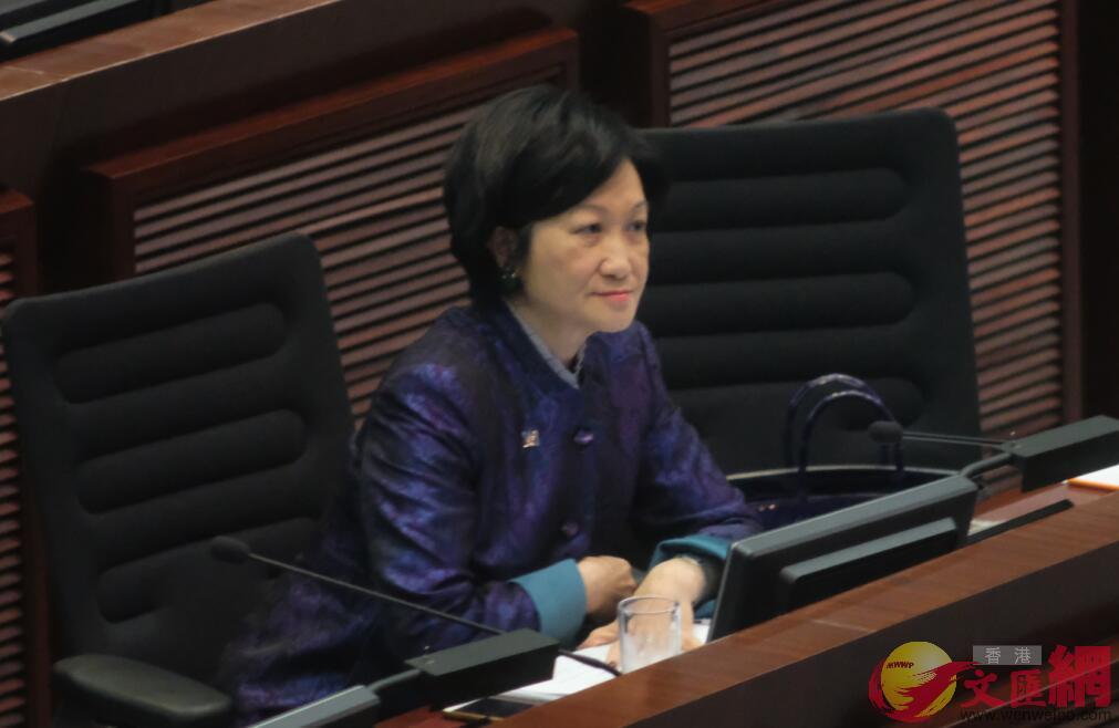 葉劉淑儀表示,修例不會影響港人,未知何時再開立會。(文匯報資料圖片)