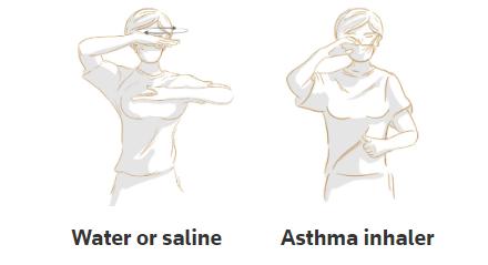 手勢語言還可以發出請求水、生理鹽水、哮喘吸入器等的信號。