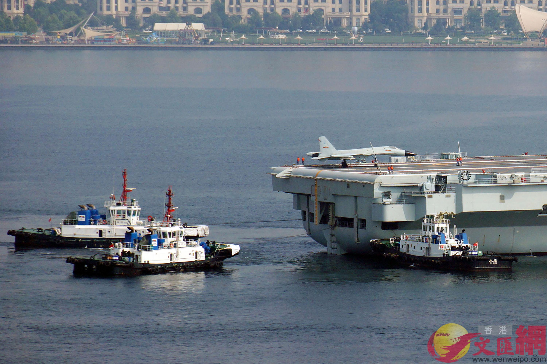 中國首艘國產航母開啟第七次出海試航任務(記者 宋偉 攝)