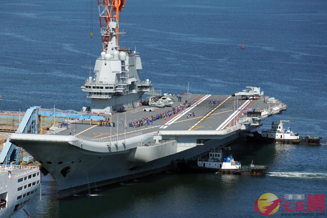 國產航母完成第七次海試。(記者 宋偉 攝)