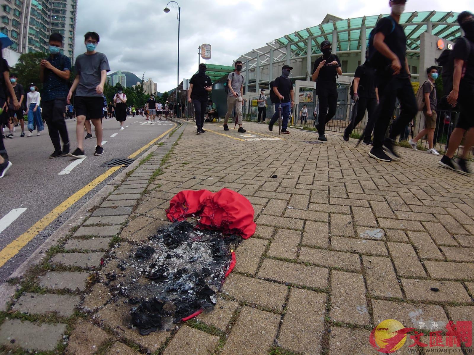 張建宗表示,燒毀國旗觸碰「一國兩制」底線,絕不能容忍。(大公報記者攝)