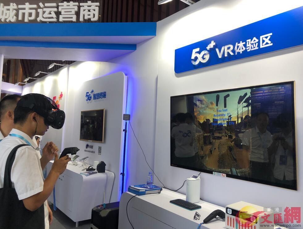 比賽現場設有5G VR體驗區(方俊明 攝)