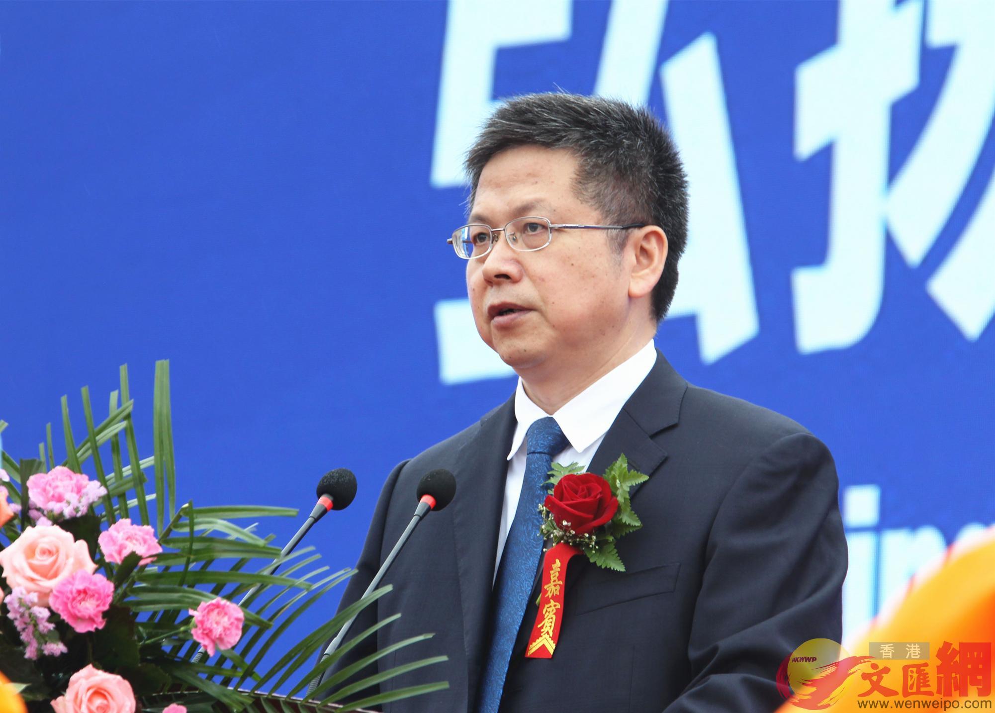 陝西省副省長方光華開幕式致辭。(記者李陽波攝)
