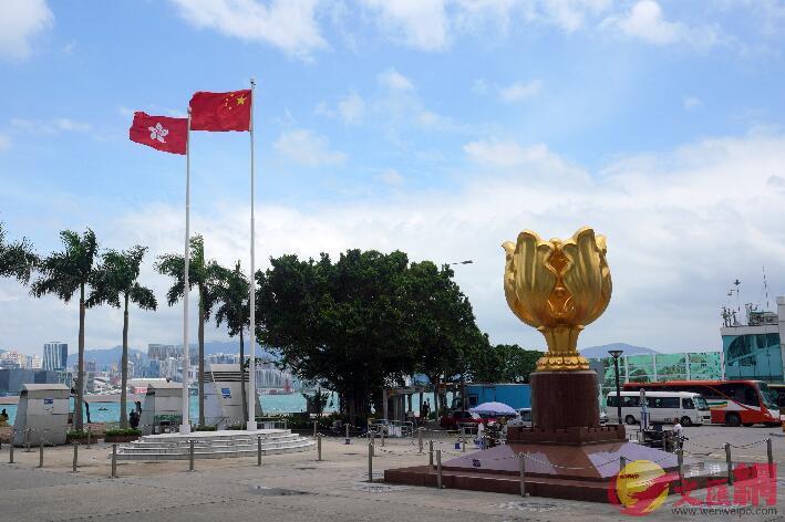 香港熱門景點金紫荊廣場遊客稀少(文匯報資料圖)