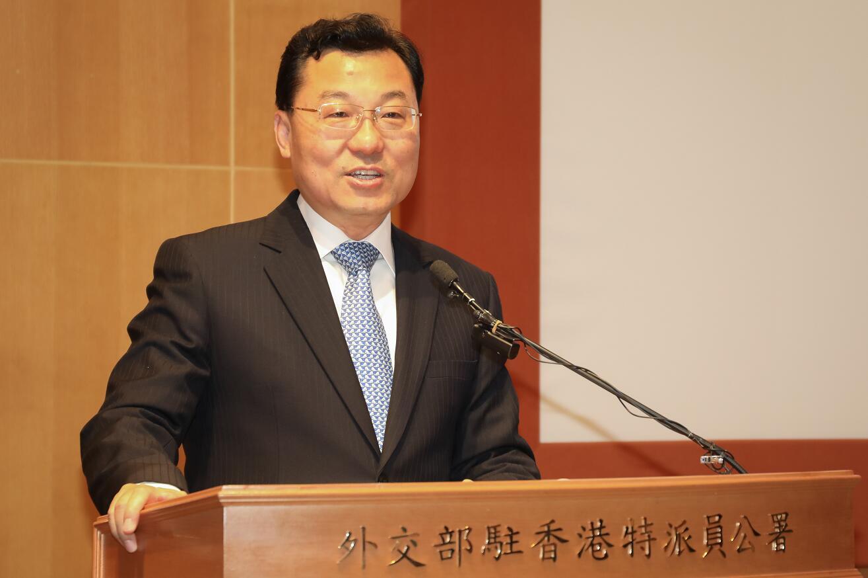 謝鋒表示,守護法治是維護香港核心競爭力的當務之急。(中新社資料圖片)
