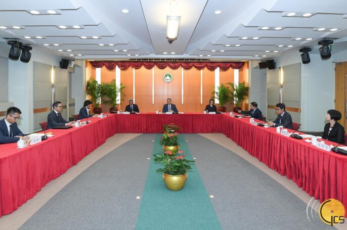 崔世安主持澳門特別行政區維護國家安全委員會本年度第二次全體會議(澳門特區新聞局)