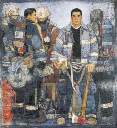 李玉旺中國畫《使命》