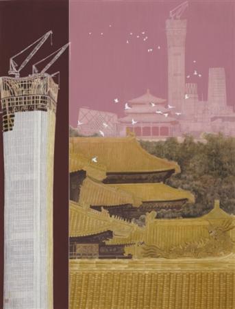 呂冬芳中國畫《崛起——中國之尊》