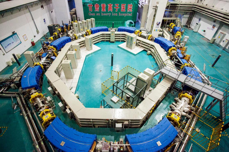 甘肅武威碳離子治療系統同步加速器。受訪者供圖