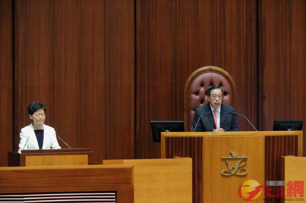 林鄭月娥出席施政報告答問大會。