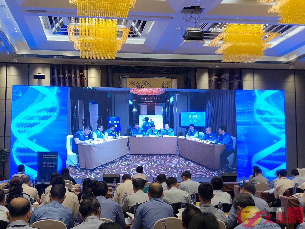 「2019年廣東省重大醫療器械安全突發事件應急決策與處置模擬演練」在佛山舉行。(記者 方俊明攝)