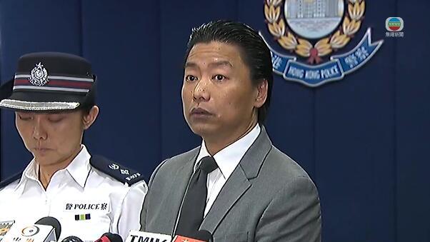 東九龍總區刑事總部警司(行動)胡家欣在簡報會講述情況