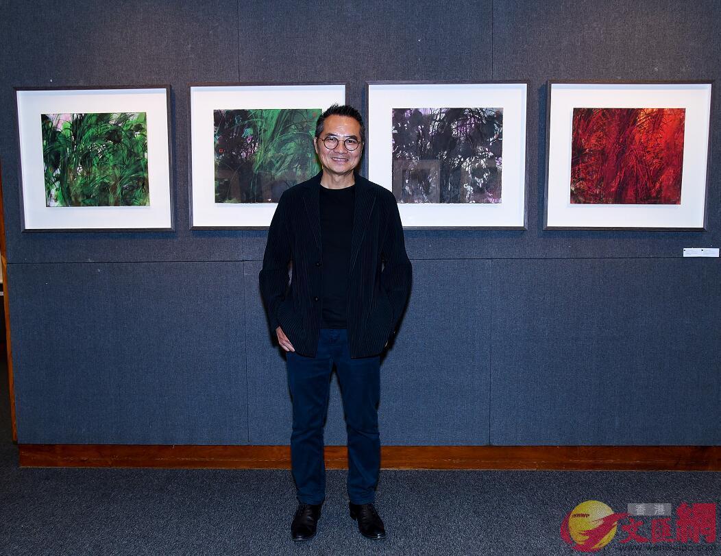 此次展覽林天行帶來最新作品菖蒲系列