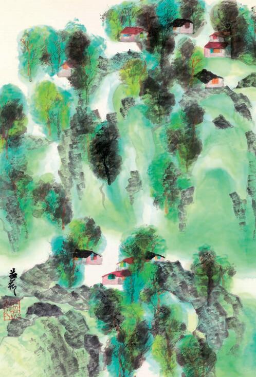 陳燕卿 清風(二) 水墨設色紙本 56 x 38 cm 2018