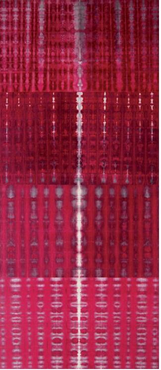 范欣 復調系列之红 水墨設色紙本 80 x 33 cm 2019
