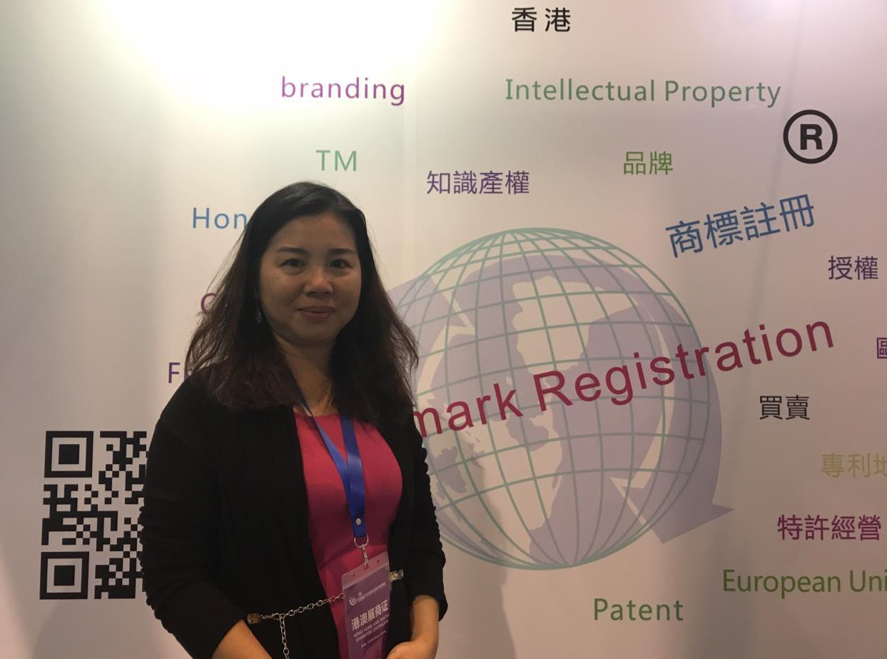 香港柏珍妮策劃公司知識產權顧問楊靜儀表示,其公司約有2成業務來自內地客戶。(記者 盧靜怡 攝)