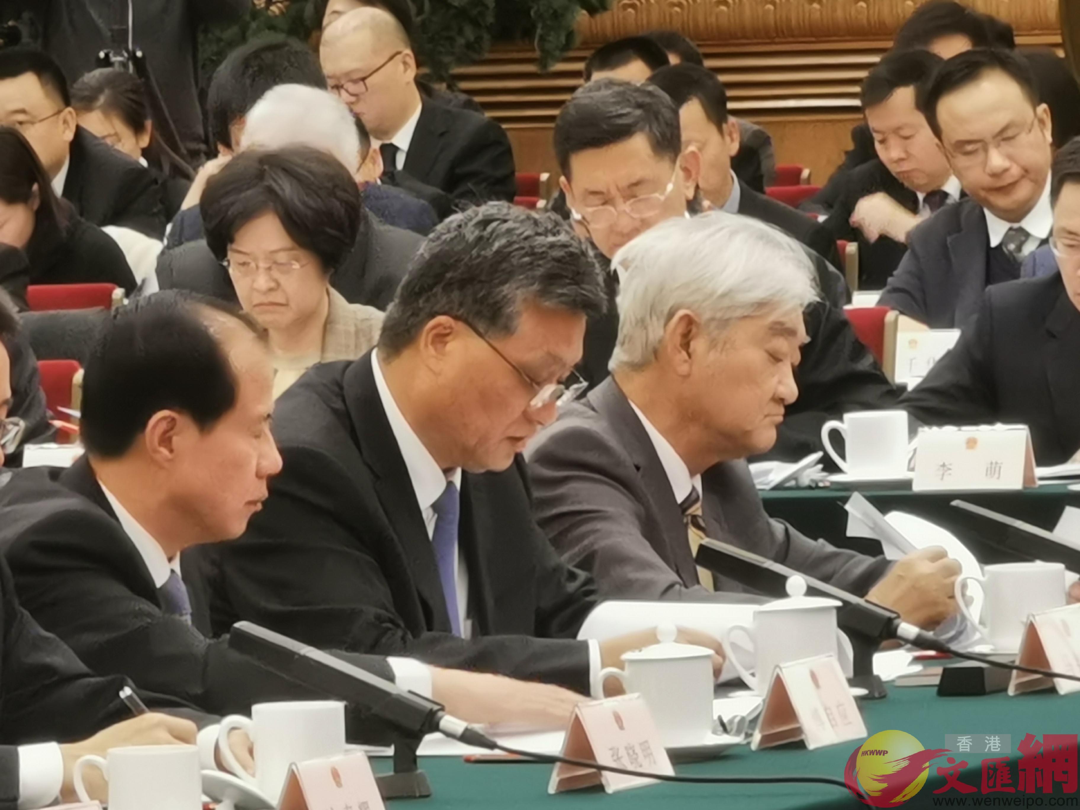 廣東省省長馬興瑞(前左二)發言(大公文匯全媒體馬靜攝)