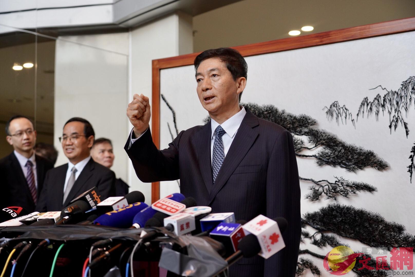 駱惠寧表示,自己會帶着對香港的真誠和真情做好工作。(大公文匯全媒體記者李湃豐圖)