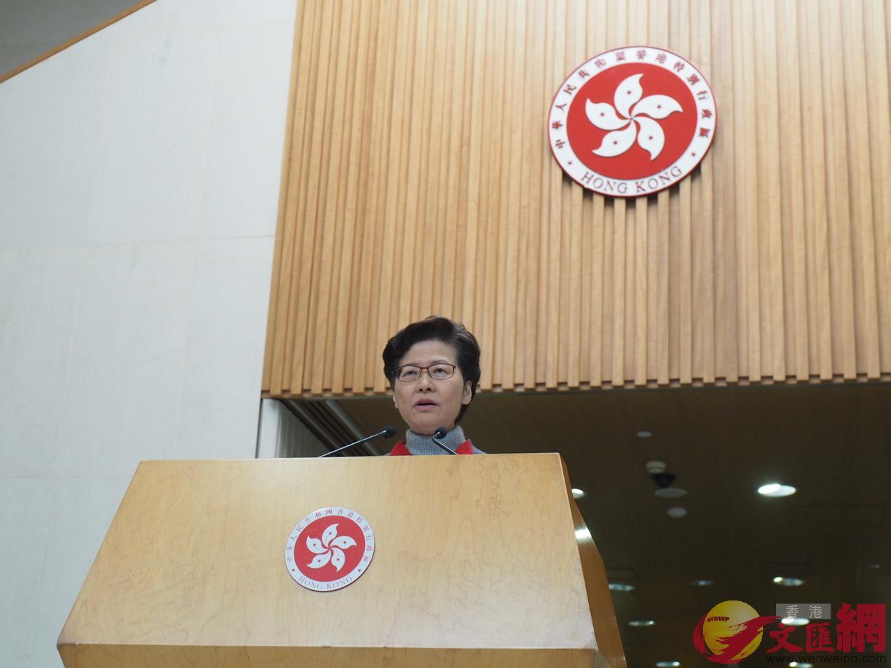 林鄭月娥表示,未有打算改動單程證政策。(大公文匯全媒體記者何燊亮攝)