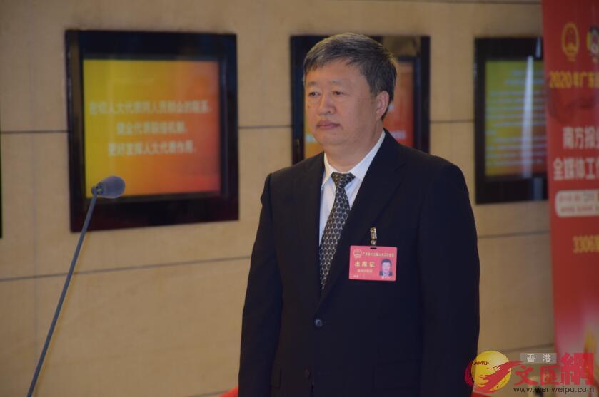 廣東省人大代表、深圳清華大學研究院院長、清華大學珠三角研究院院長嵇世山(記者盧靜怡 攝)
