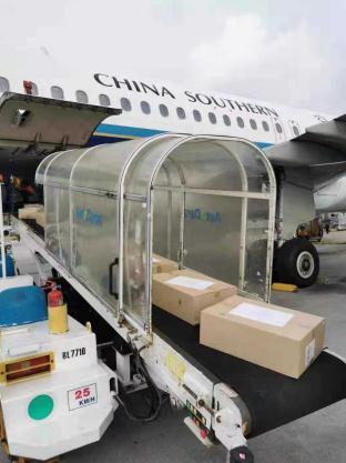 一批医疗物资空运到国内(受访者供图)