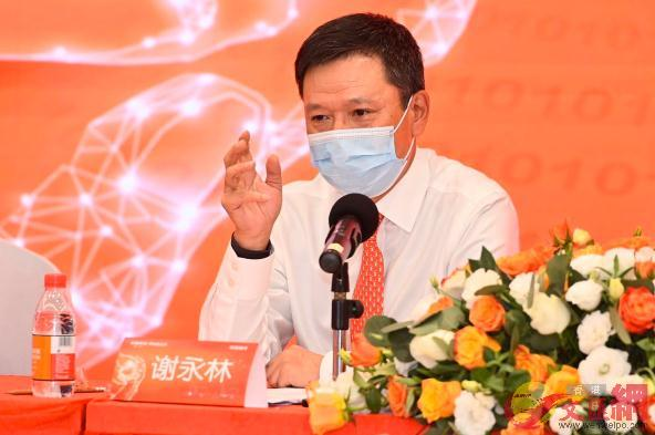 謝永林稱,疫情促平安銀行加速數字化經營(資料圖片 記者毛麗娟攝)