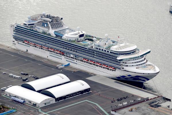 「鑽石公主號」郵輪年老乘客有望今日先行下船接受隔離。(美聯社資料圖片)