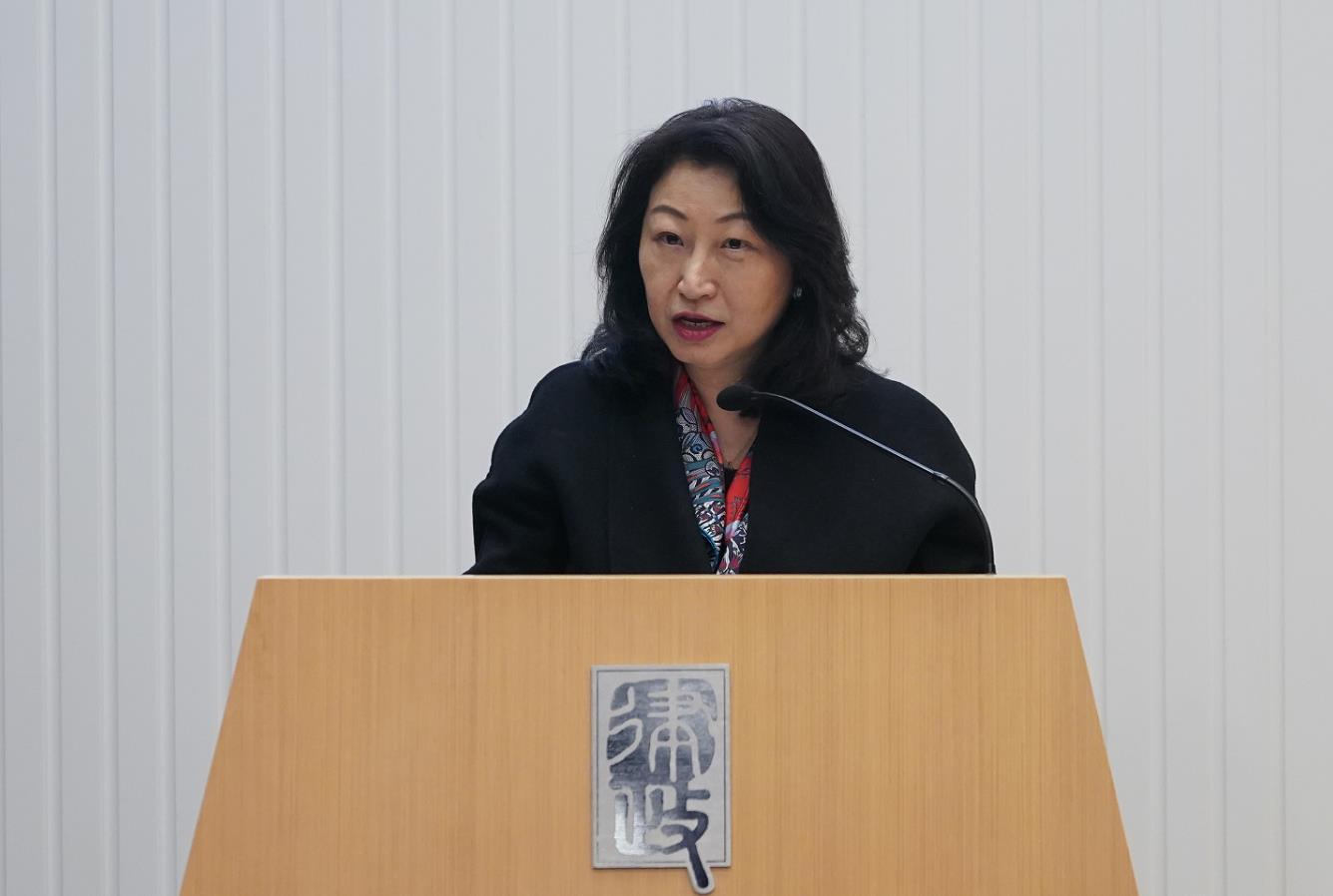 鄭若驊表示,律政司會積極配合財政預算案,提升香港國際形象(政府新聞處)
