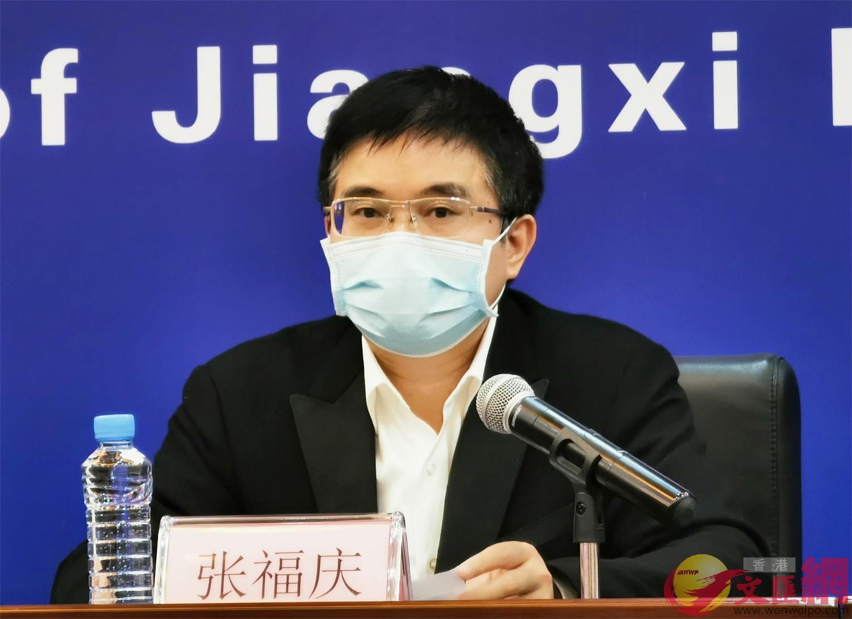 江西省民政廳黨組成員、副廳長張福慶(王逍攝)