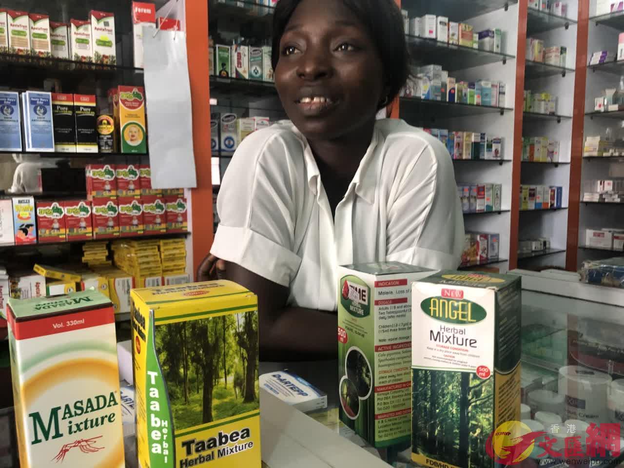 草藥在西非廣受歡迎 (記者 李理 攝)