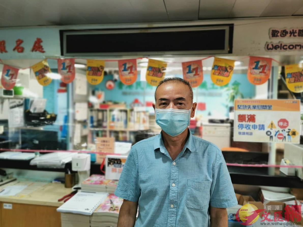 民用航空事業職工總會主席張樞宏表示,黑暴及疫情不單影響工友生計,憂慮香港航空業的未來發展,期望政府可以做到真真正正做到止暴制亂,撥亂反正。(大公文匯全媒體記者攝)