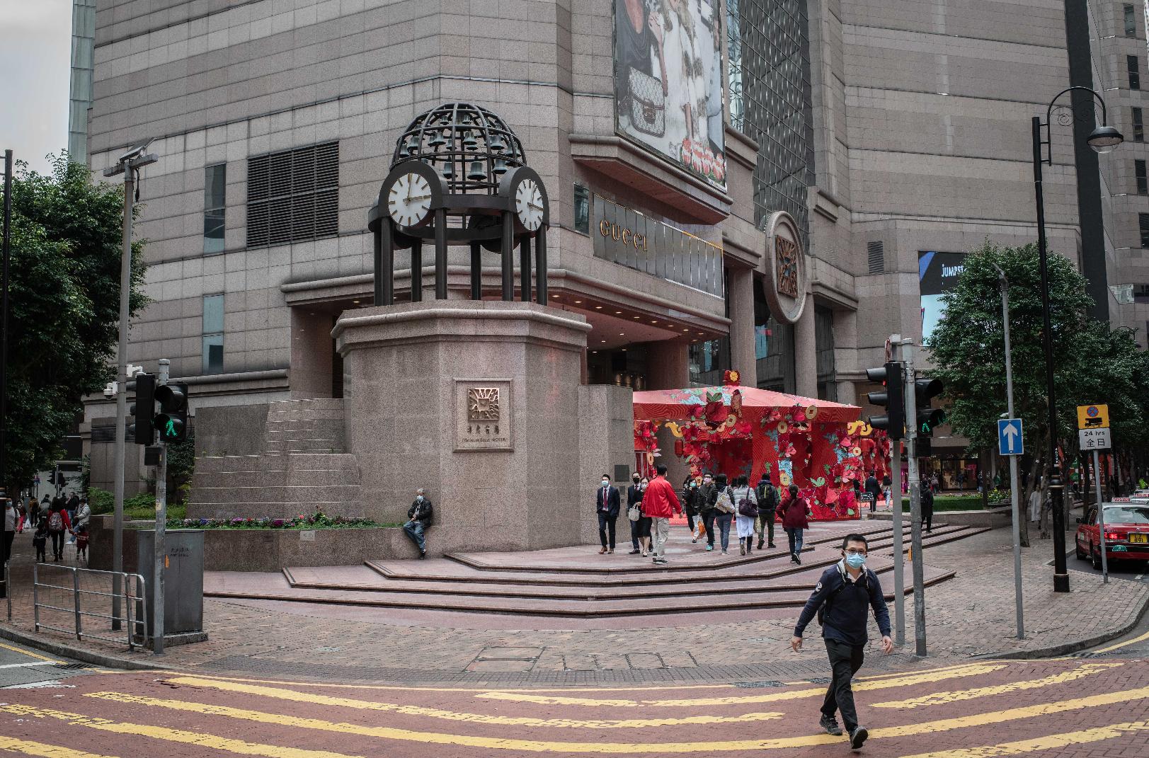 環球時報今日發表社評,指港區國安法立法敲響美國干涉香港喪鐘(彭博社資料圖片)
