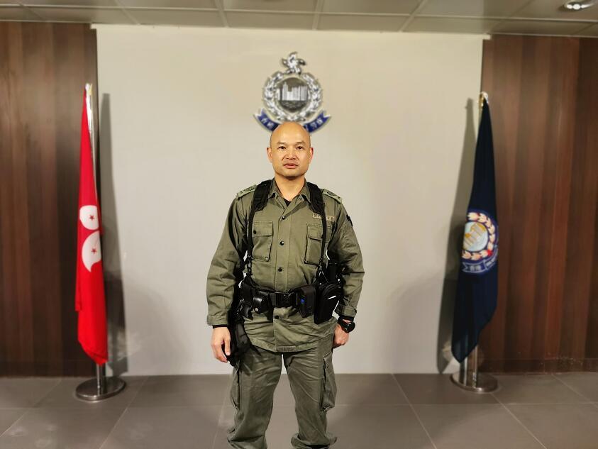 光頭警長劉澤基。受訪者供圖