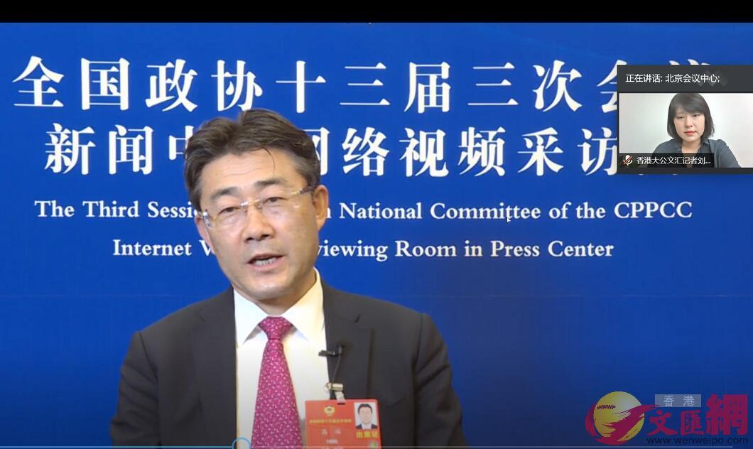 全國政協委員、中國疾控中心主任高福接受大文傳媒專訪。記者劉凝哲 攝