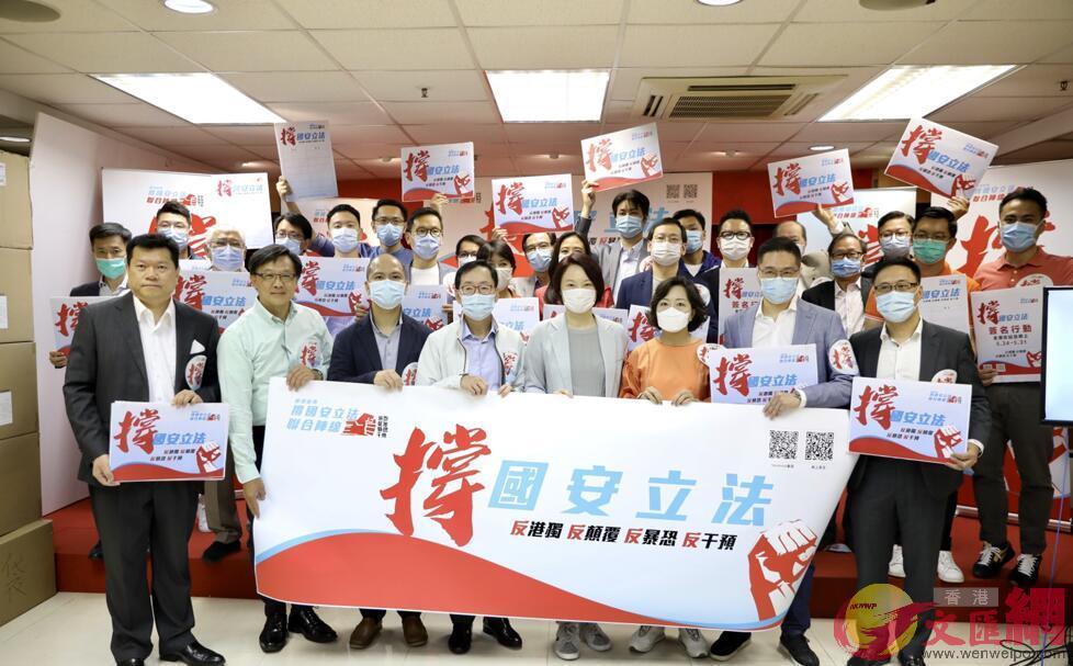 「香港各界撐國安立法聯合陣線」今日成立 (大公文匯全媒體記者李斯哲攝)