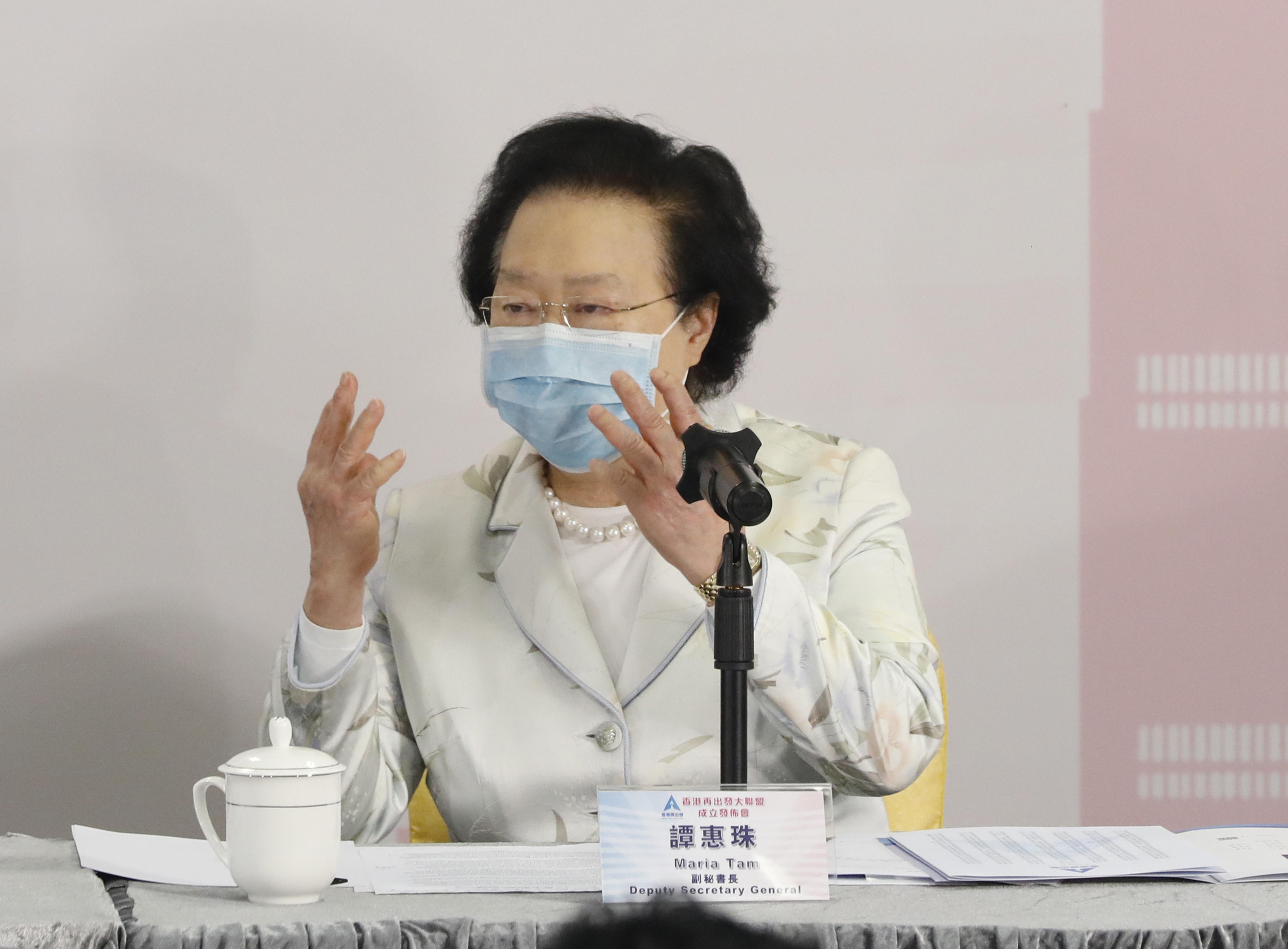 譚惠珠表示,「港區國安法」立法保障港人合法權利(點新聞資料圖片)